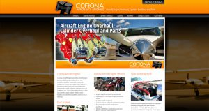 Aviation Website Design Sacramento