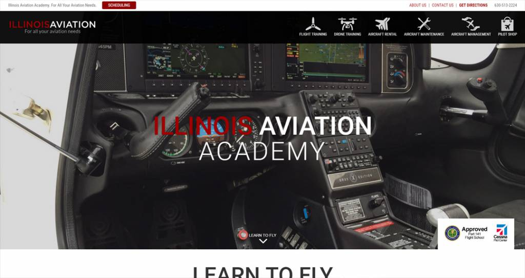 Best Aviation Website Design Bolingbrook
