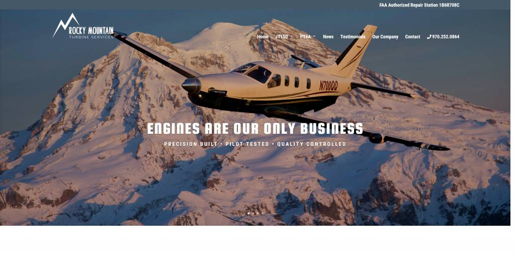 Updated Aviation Website Design