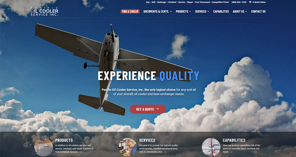 Aviation Website Development