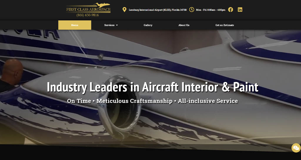 Private Jet Website Design Jacksonville